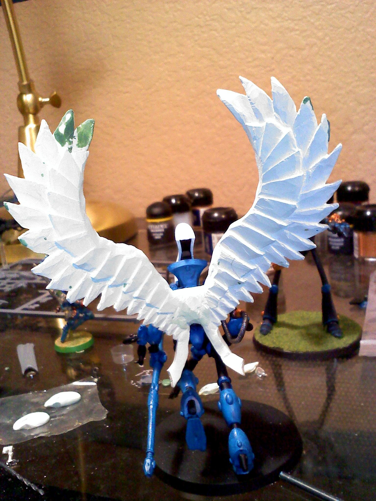 Conversion, Eldar, Scratch Build, Swooping Hawks, Work In Progress, Wraithhawk, Wraithlord