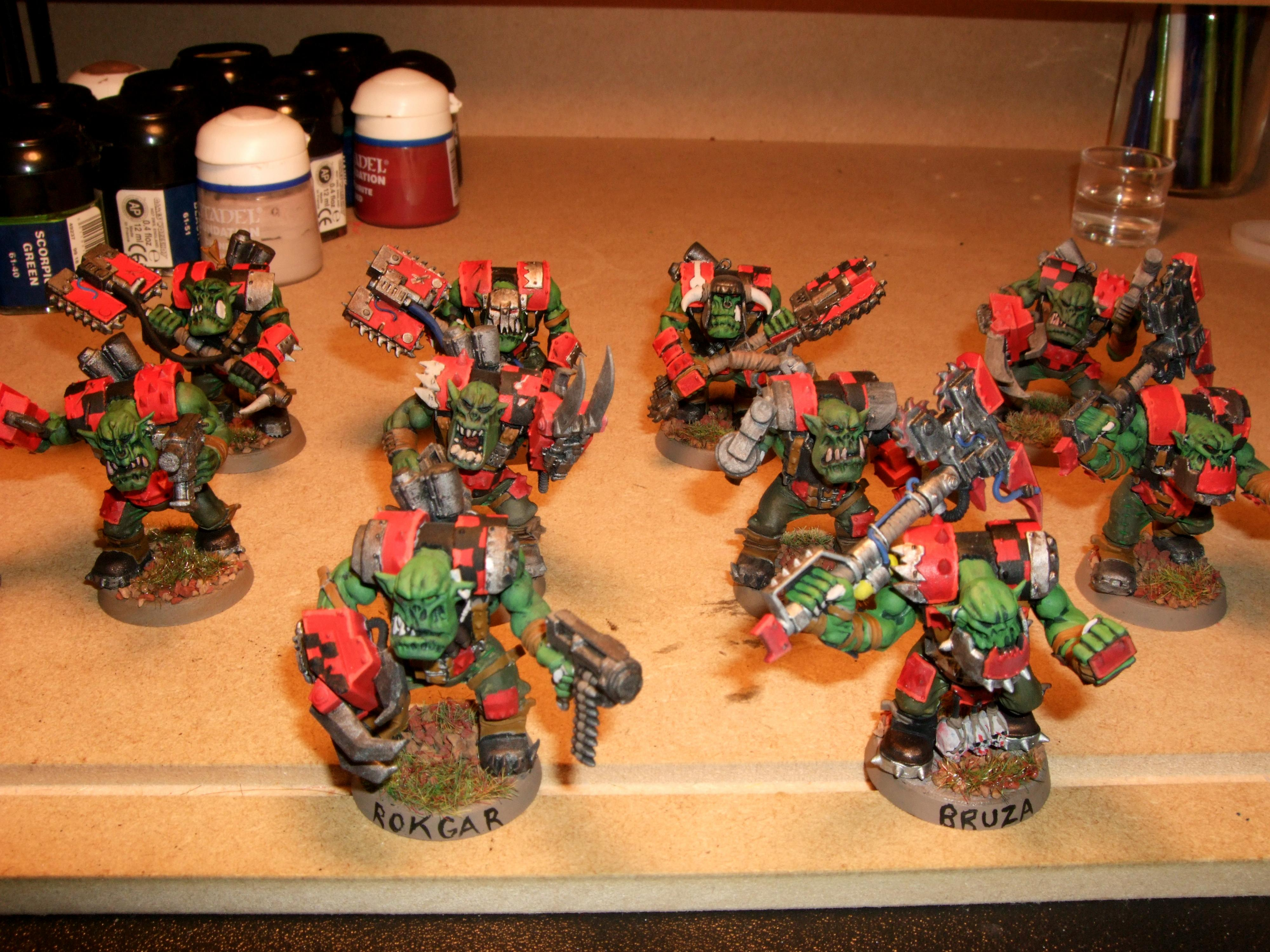 Big Choppa, Choppa, Nob, Orks, Painted, Power Klaw, Powerklaw