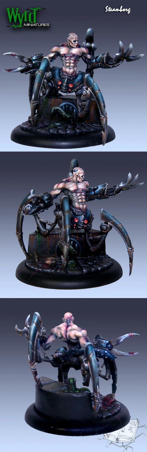 Cyborg, Malifaux, Spider, Steampunk, Wyrd