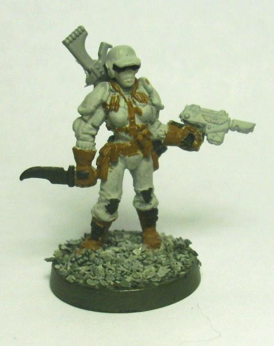 My wife's Adeptus Arbites Dark Heresy character (front)