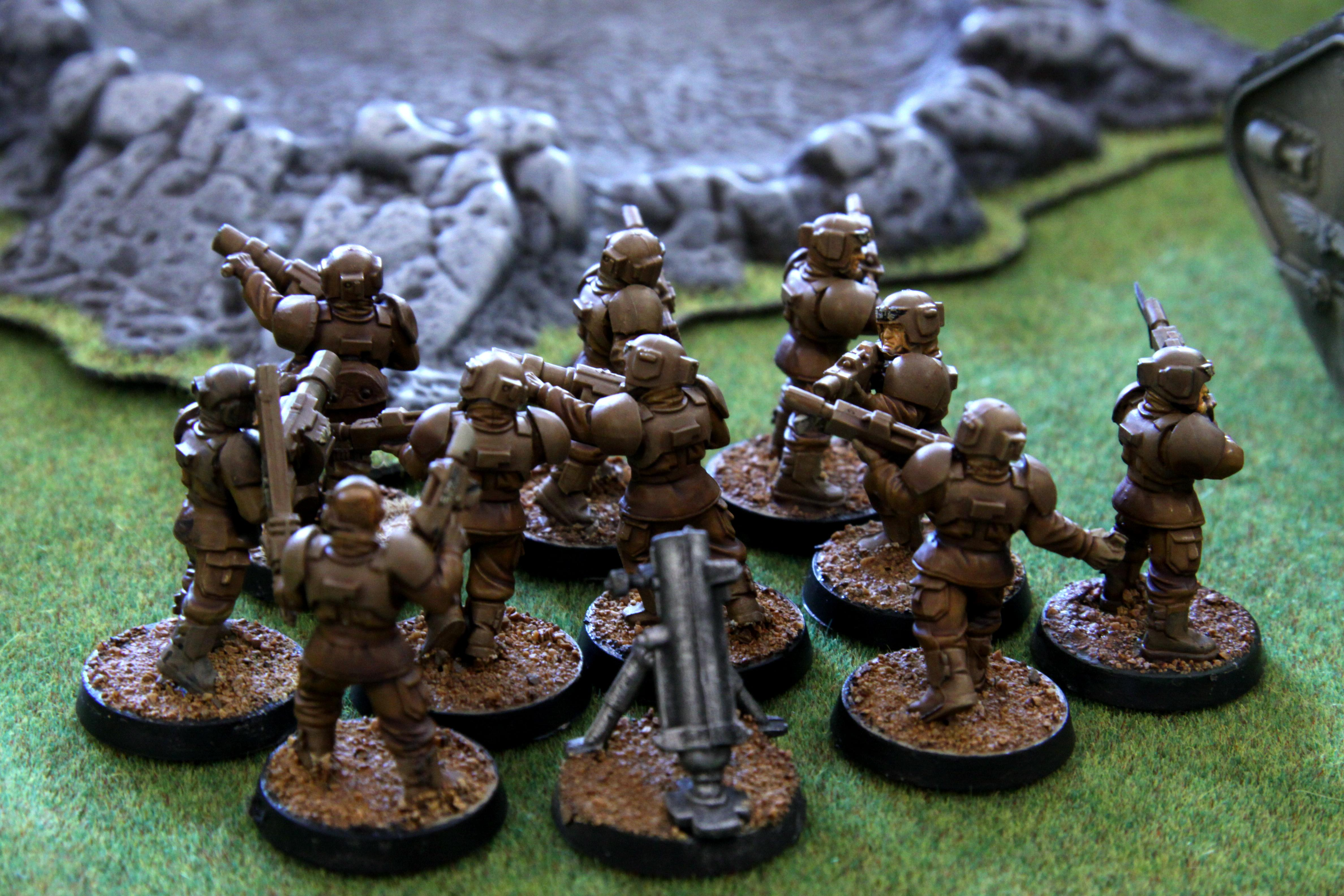 Desert, Guard, Imperial, Imperial Guard, Painted, Riflemen, Squad