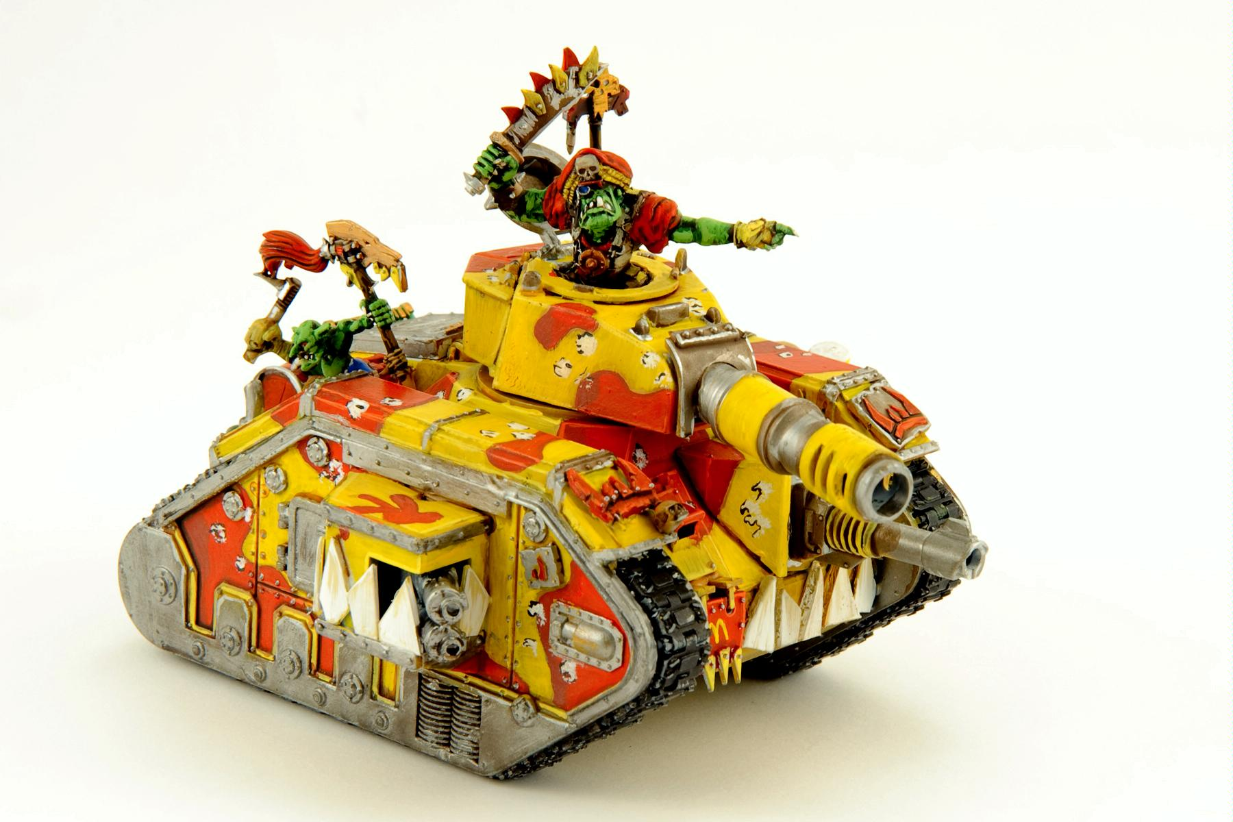 Corporate, Guard Abuse, Humor, Leman Russ, Looted, Lord Shag, Mascot, Mcdonalds, Orks