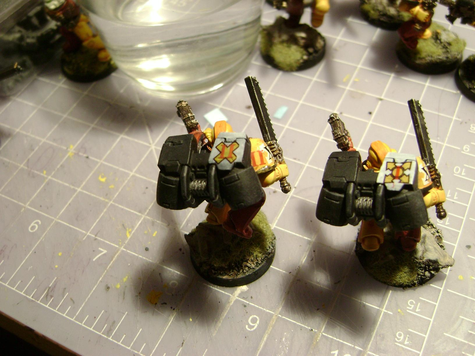 Assault Marines, Imperial Fists, Jump Pack, Space Marines