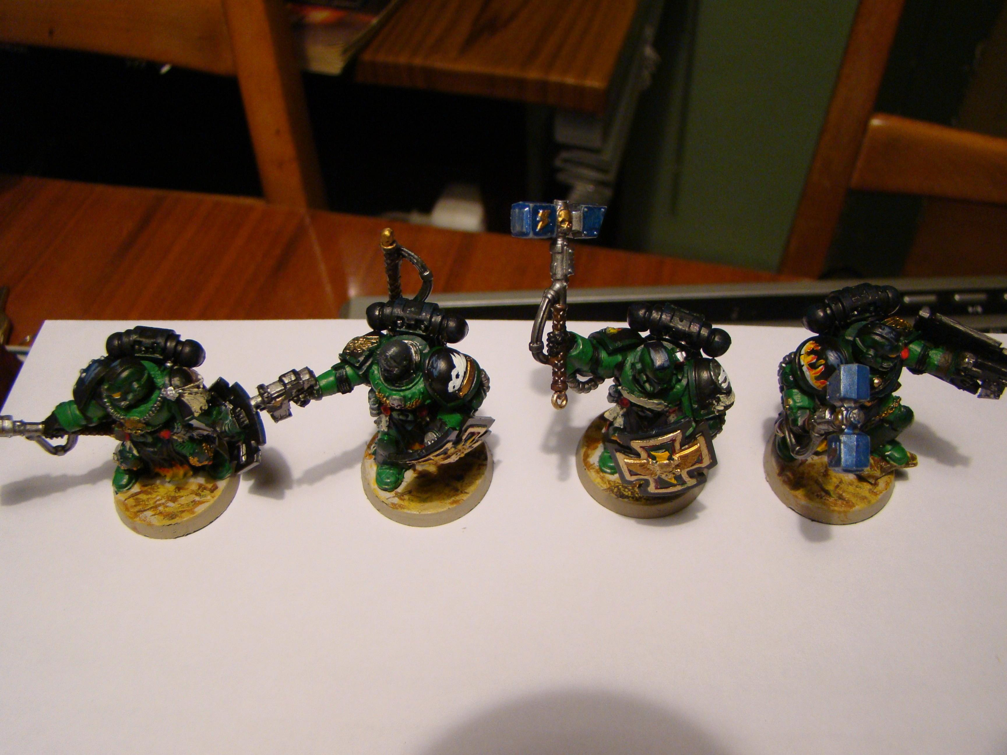 Command Squad, Salamanders, Space Marines, Warhammer 40,000