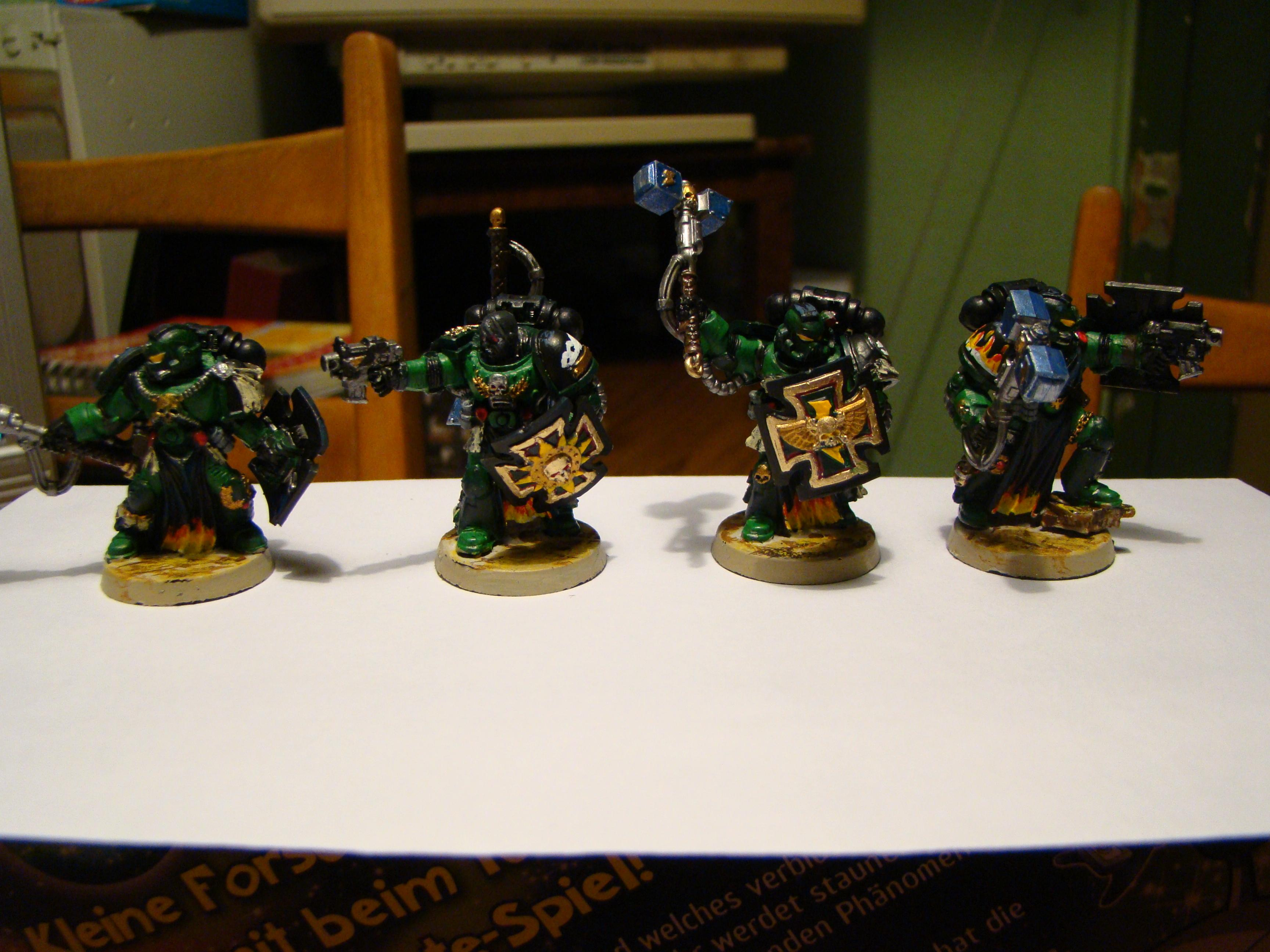 Command Squad, Salamanders, Space Marines, Warhammer 40,000