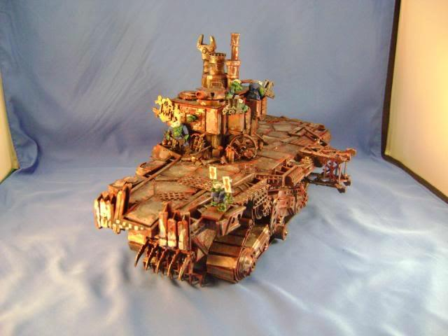 Aircraft Carrier, Battlewagon, Conversion, Orks, Science-fiction, Vehicle, Warhammer 40,000
