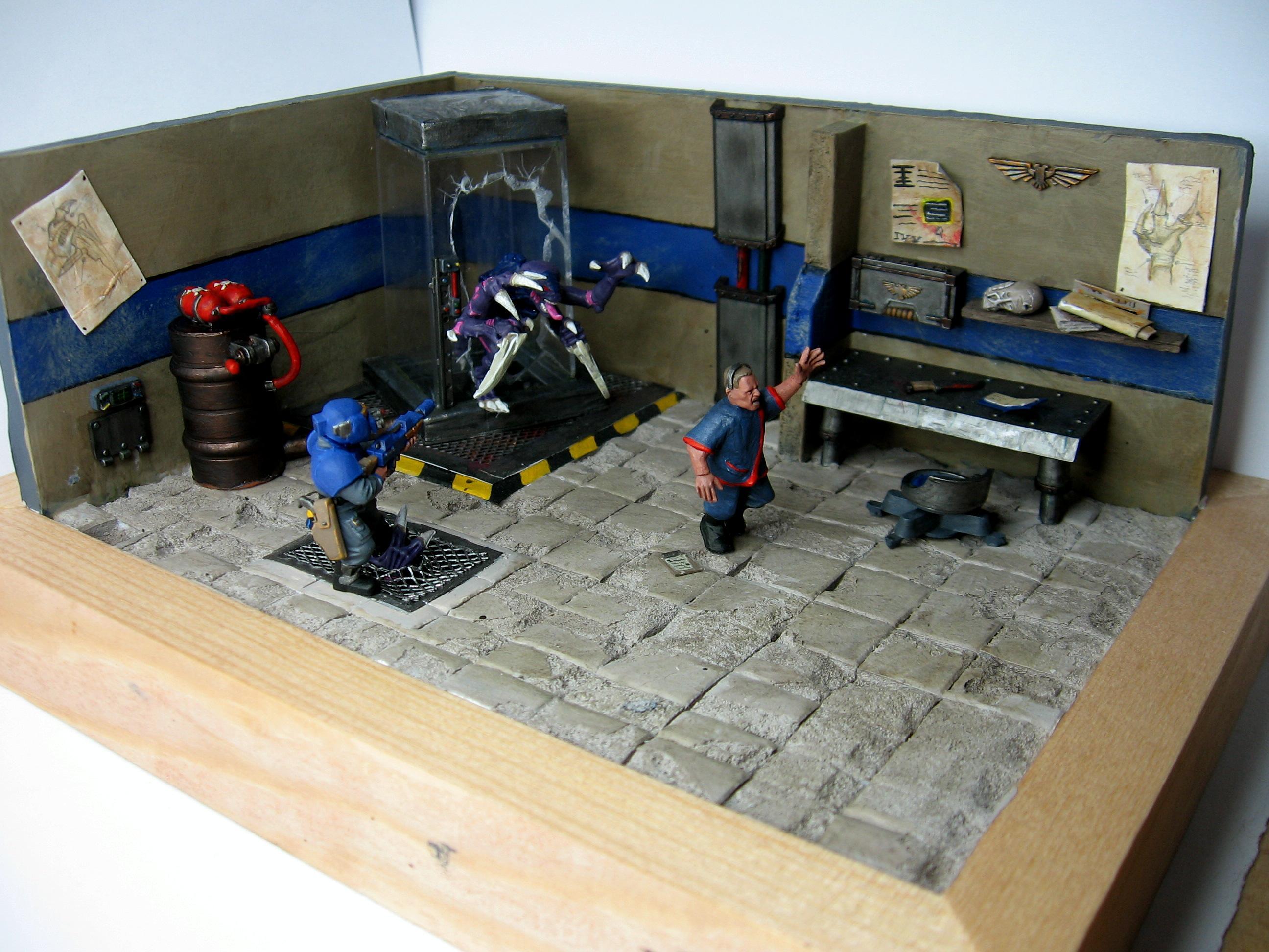 Diorama, Genestealer, Imperial Guard, Warhammer 40,000