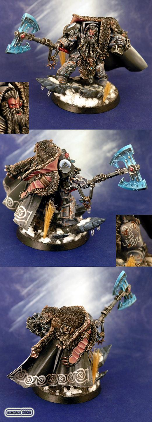 Freehand, Logan Grimnar, Space Marines, Space Wolves, Terminator Armor, Wolf Lord