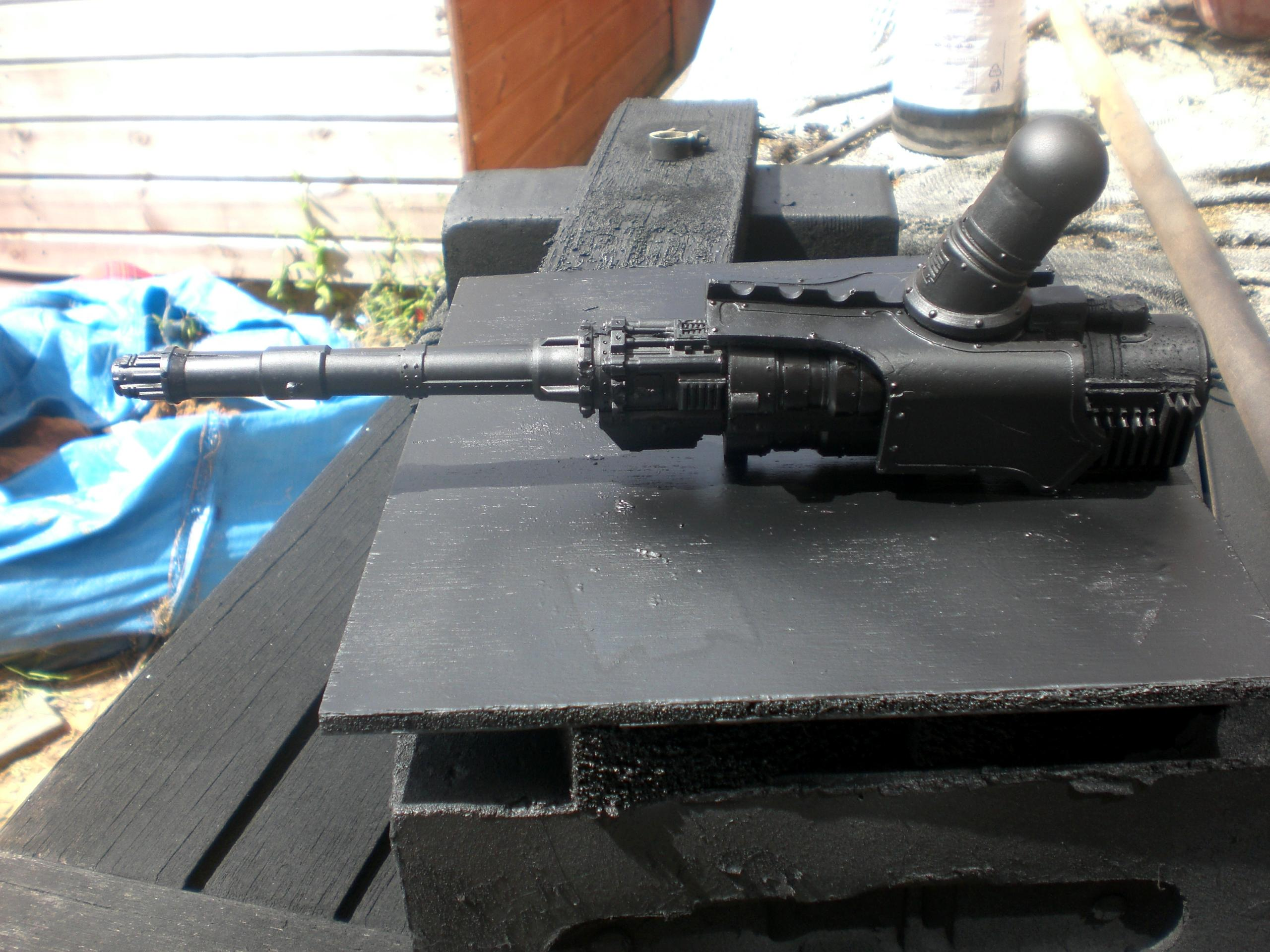 converted reaver titan arm mounted volcano cannon