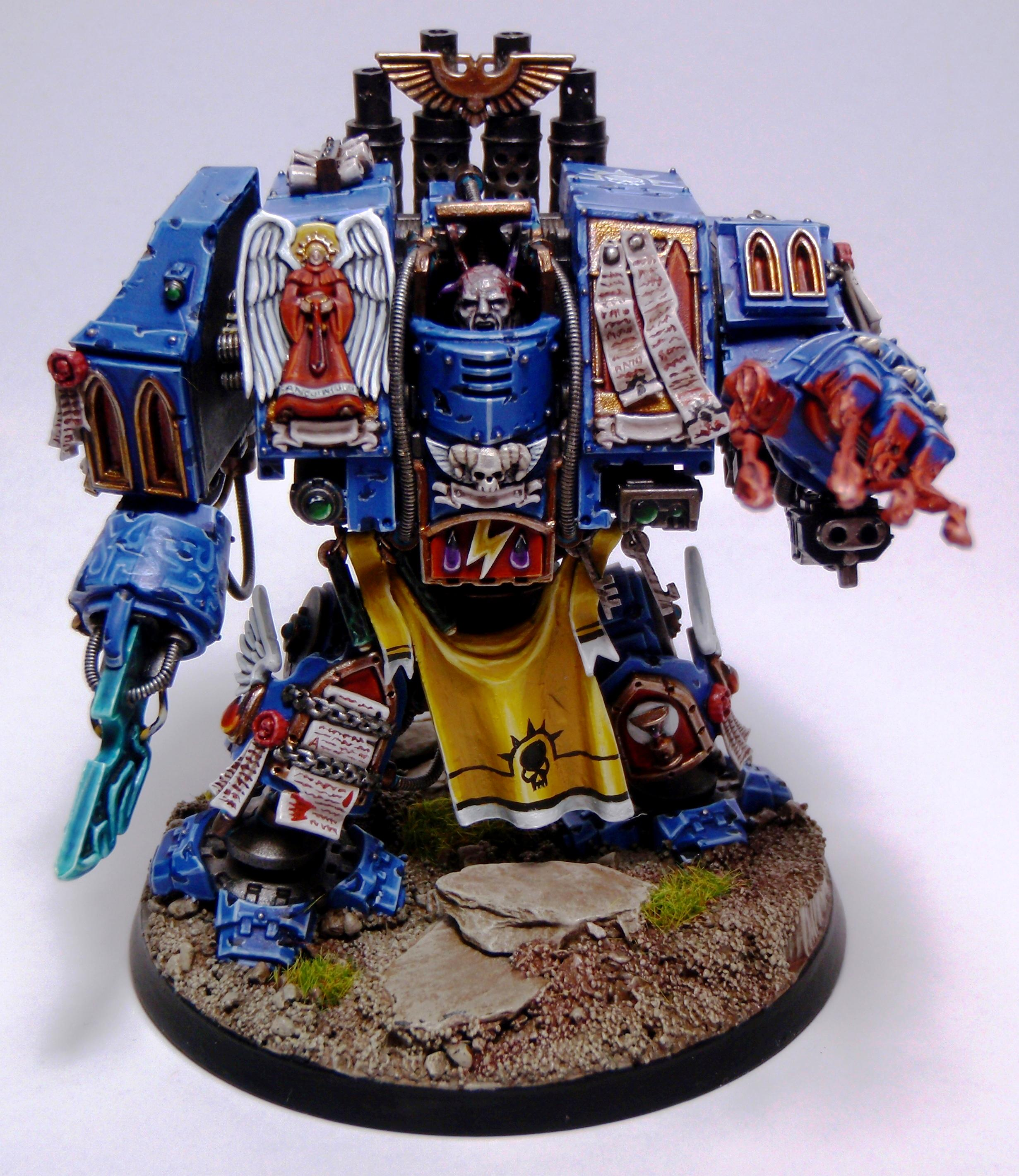 Blood Angels, Conversion, Dreadnought, Epistolary, Furioso, Librarian, Object Source, Scratchbuilld, Smite, Space Marines