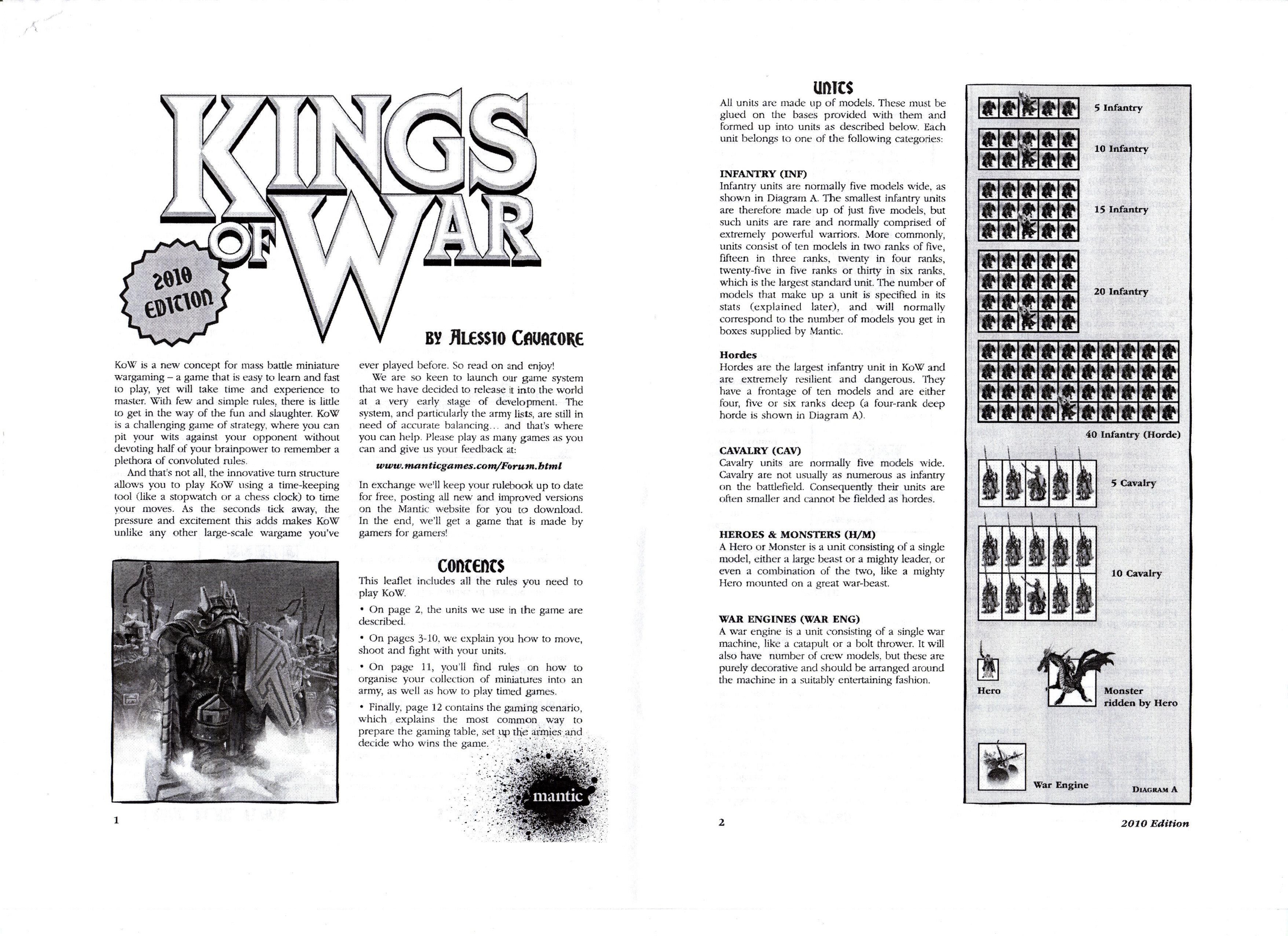 2010, Army, Dwarves, Edition, Elves, Kings Of War, Lists, Mantic, Rules, Undead