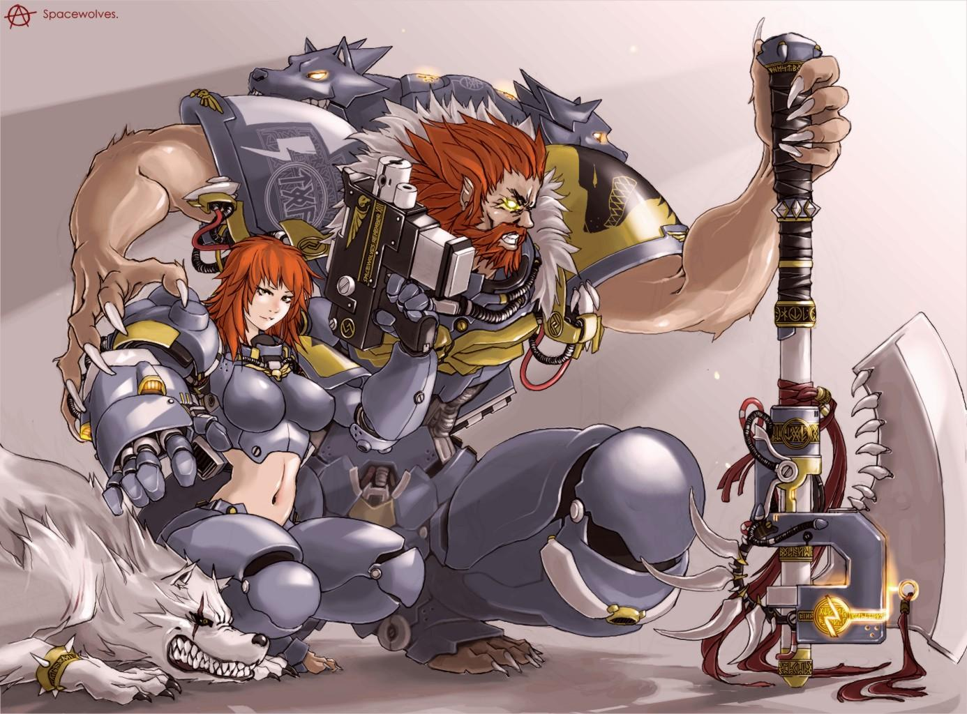 Artwork, Sexy, Space Wolves