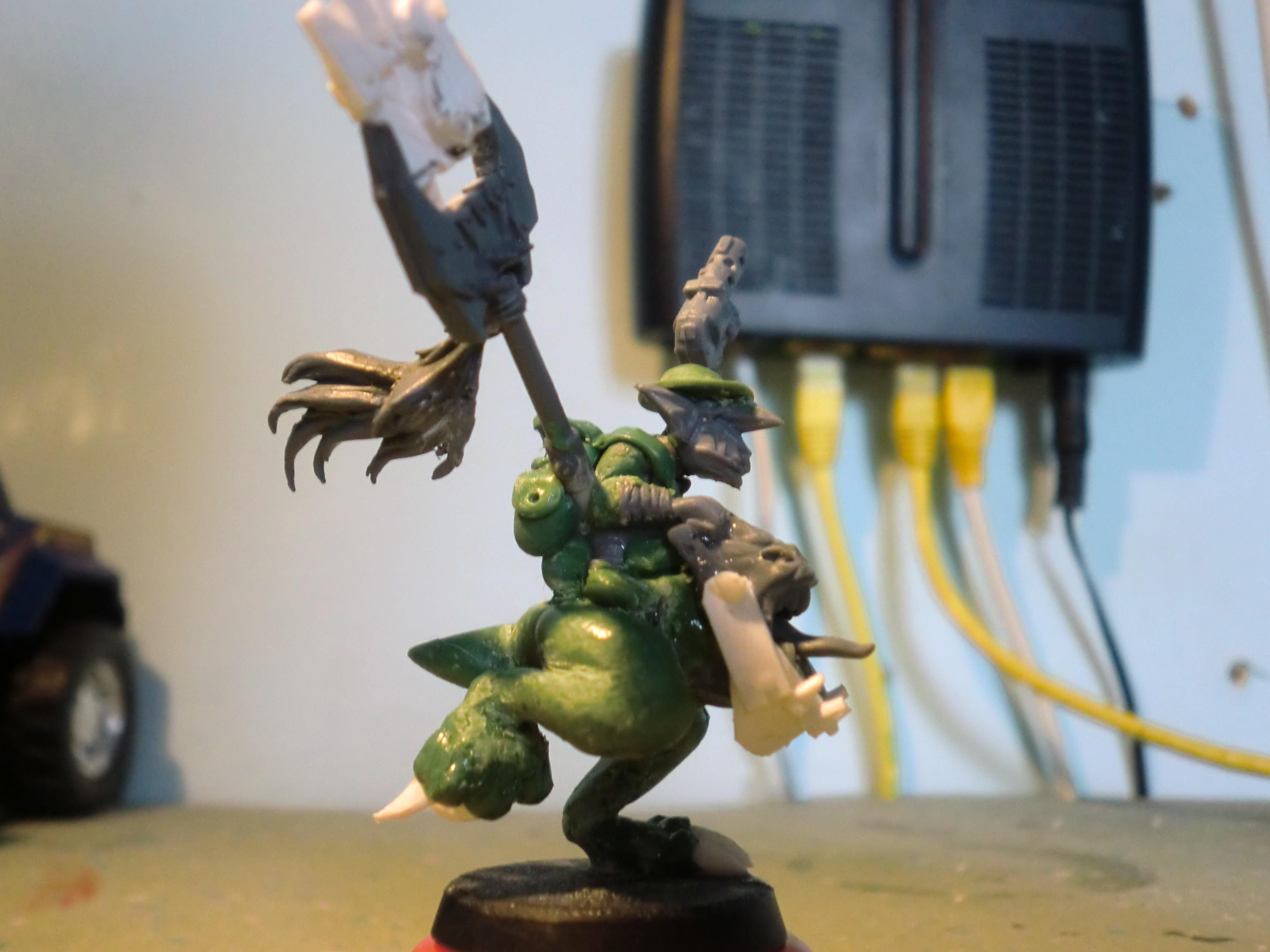 Attack Squig, Bosspole, Conversion, Grots, Orks