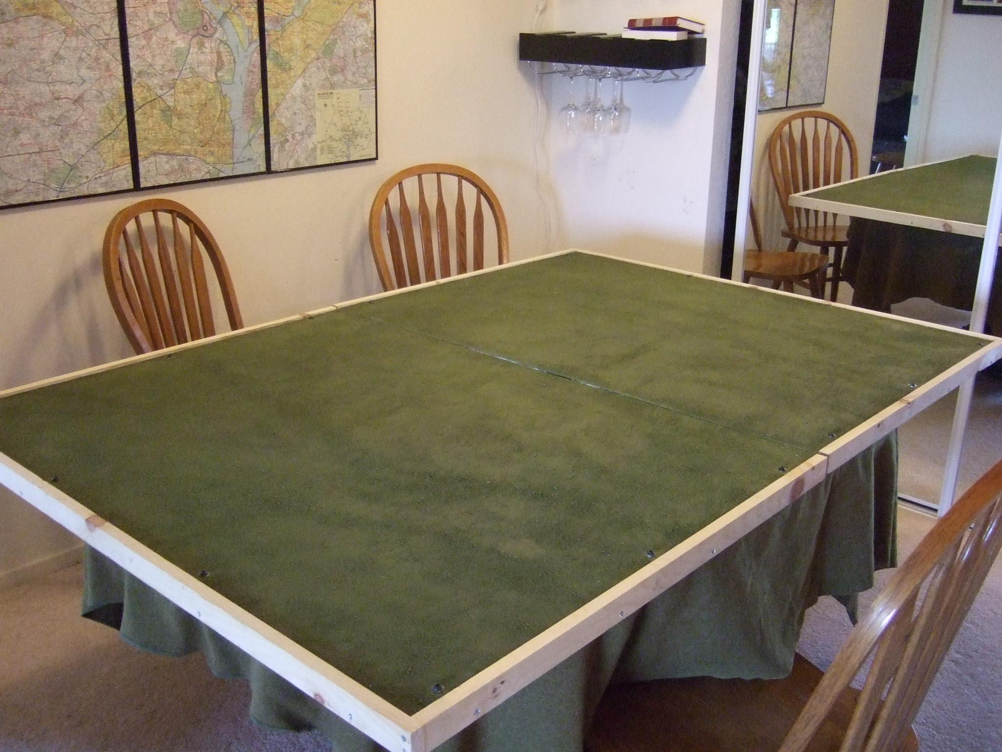finished table (green side)