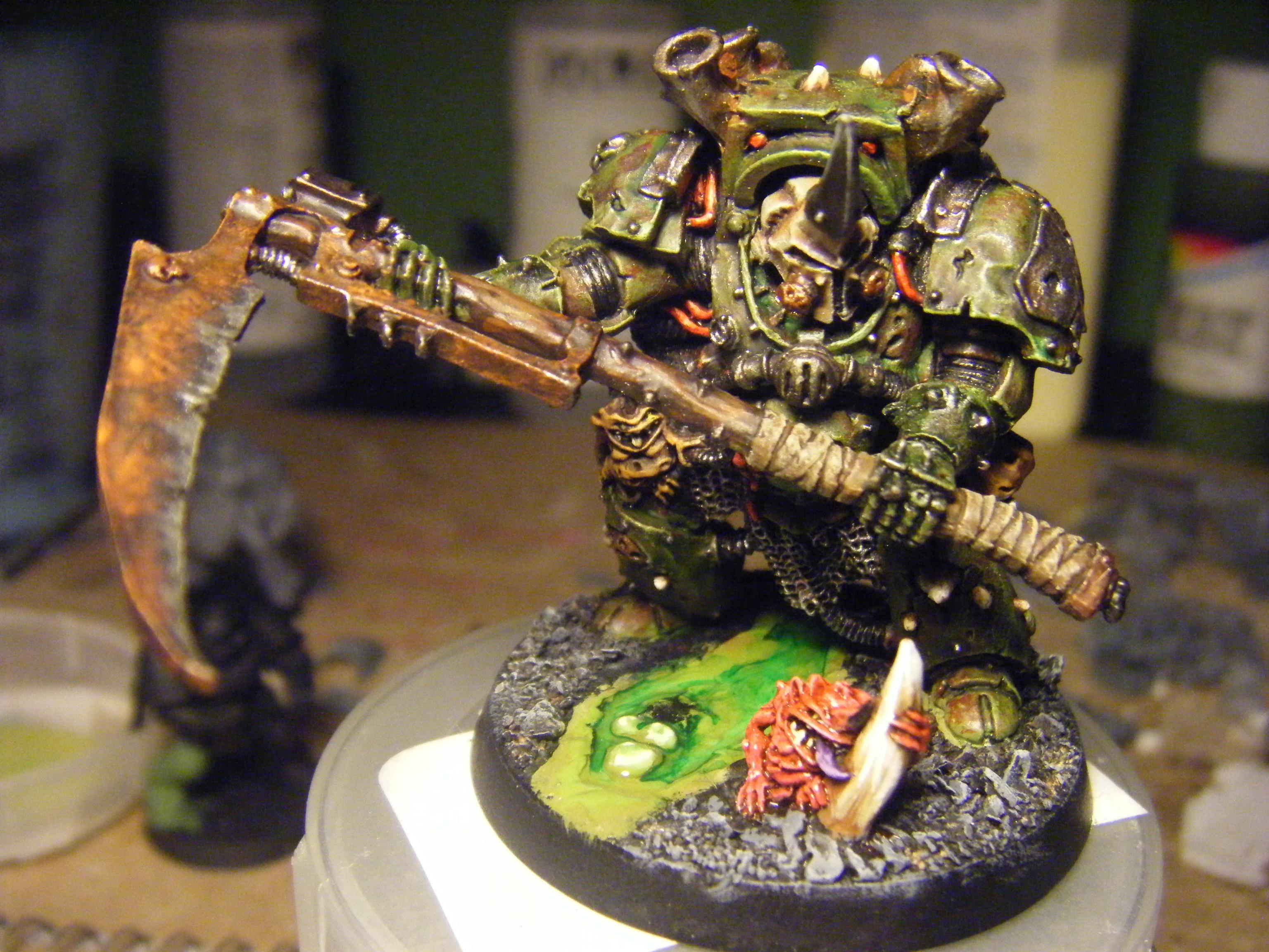 Chaos Space Marines, Nurgle, Terminator Armor, Typhus