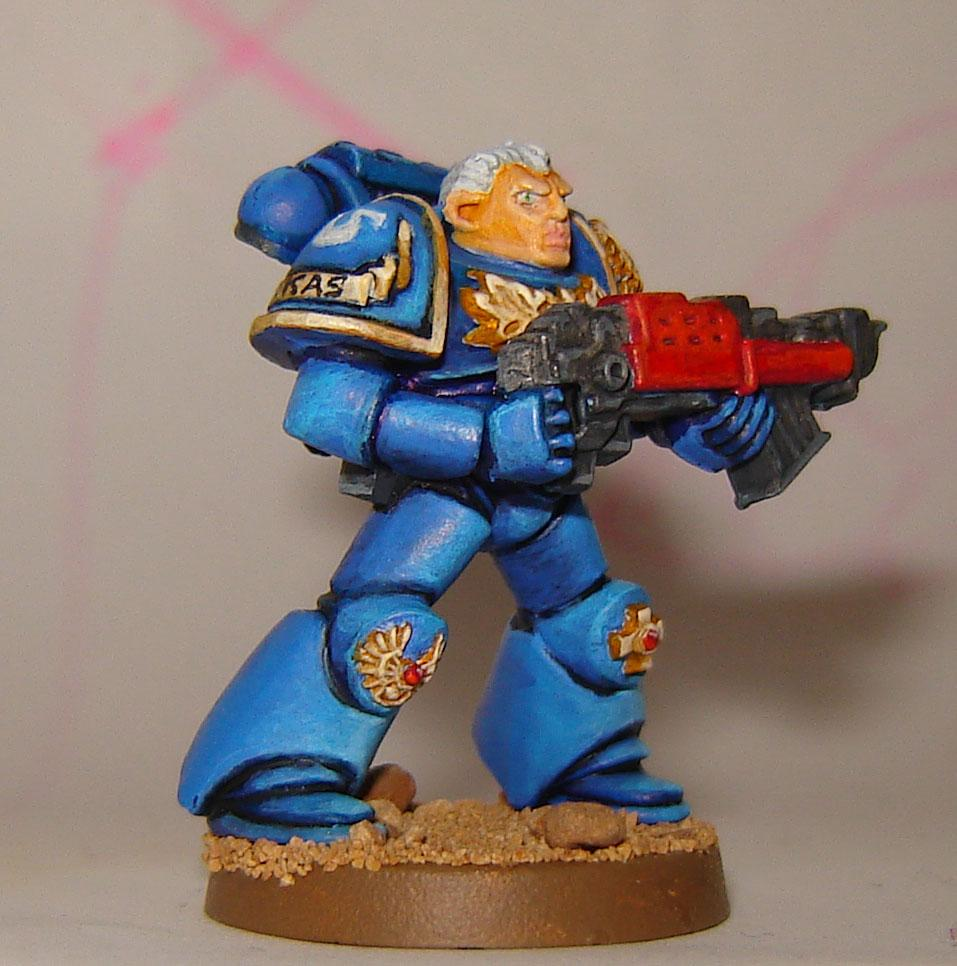 Captain, Heavy Bolter, Space Crusade, Space Marines, Ultramarines