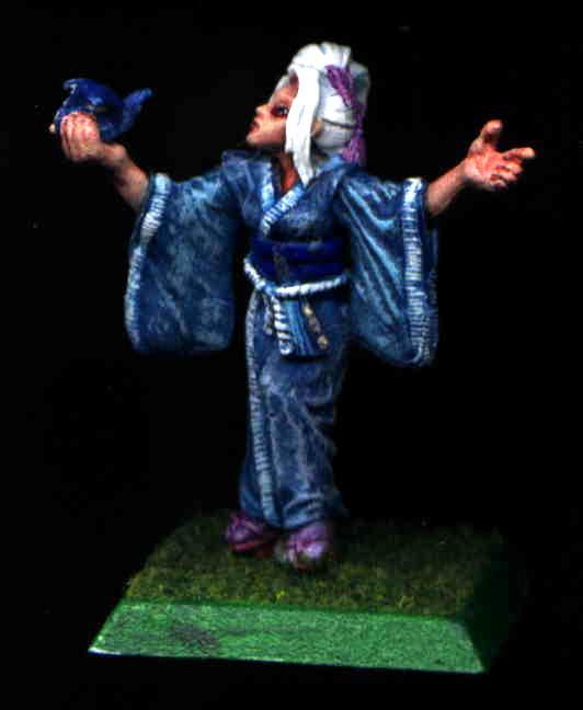 Blue, Character, Clan War, Crane, Kimono, L5r, Legend Of The Five Rings, Origami, Samurai, Shugenja, White