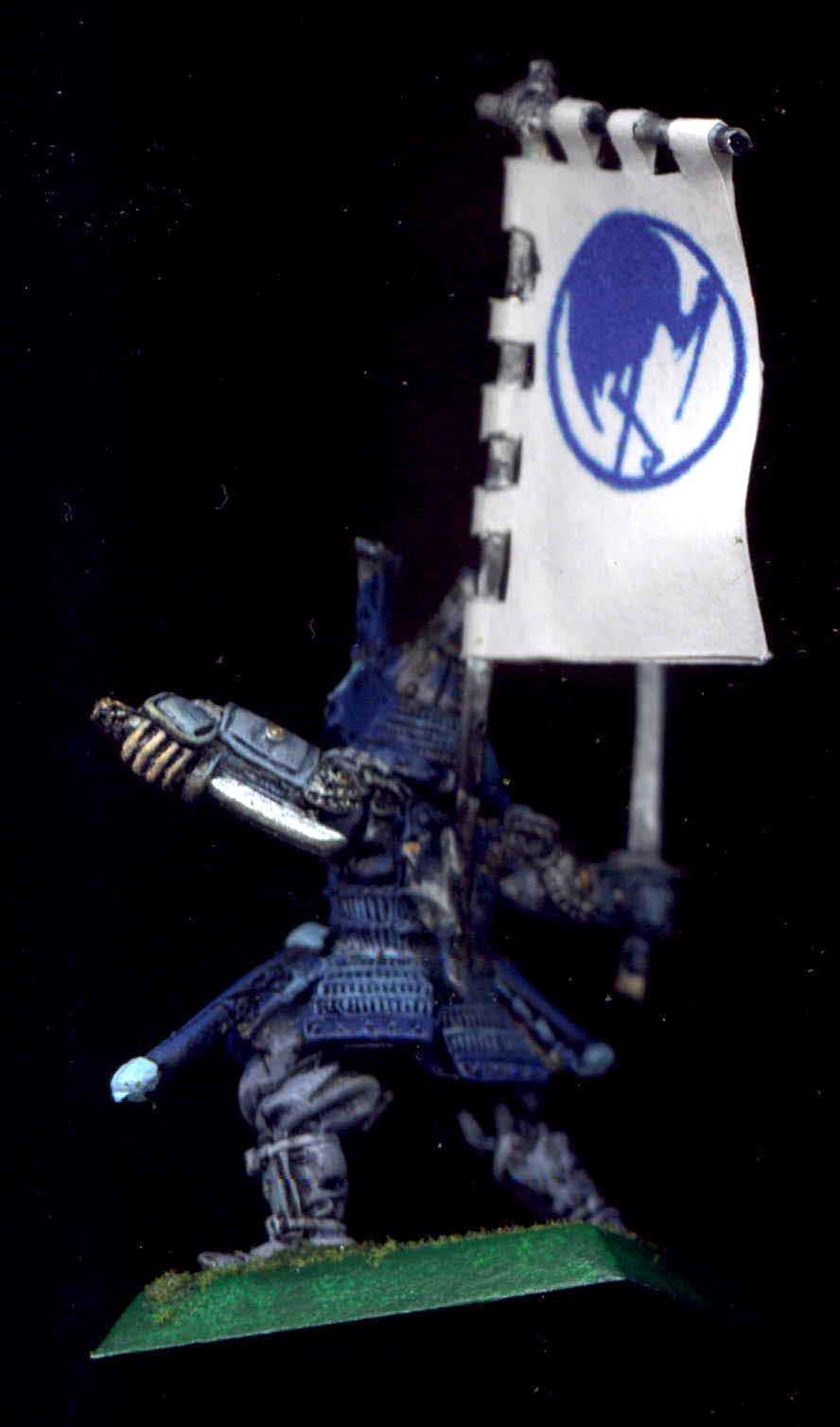 Banner, Blue, Bushi, Character, Clan War, Crane, Daisho, Hashimono, Katana, L5r, Legend Of The Five Rings, Samurai, Wakizashi, White