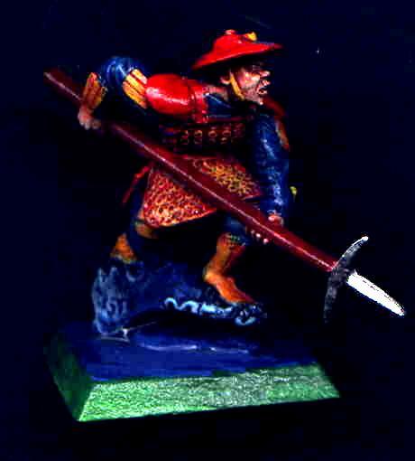 Blue, Bushi, Clan War, Infantry, L5r, Legend Of The Five Rings, Medium, Orange, Phoenix, Red, Samurai, Spear, Yellow