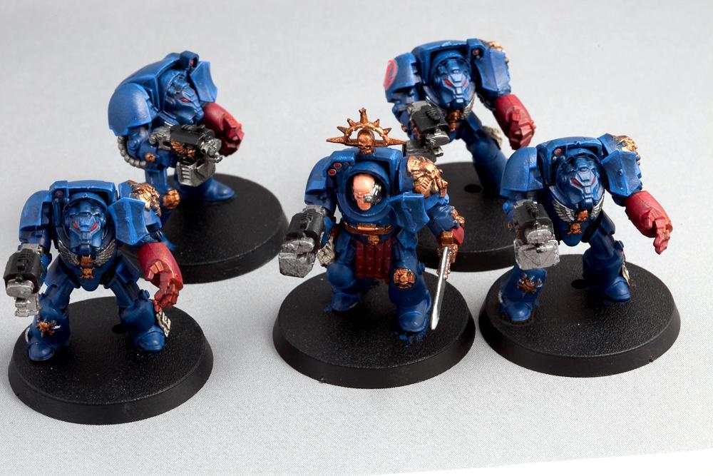 Assualt, Black, Crimson Fists, On, Reach, Space, Space Marines, Terminator Armor