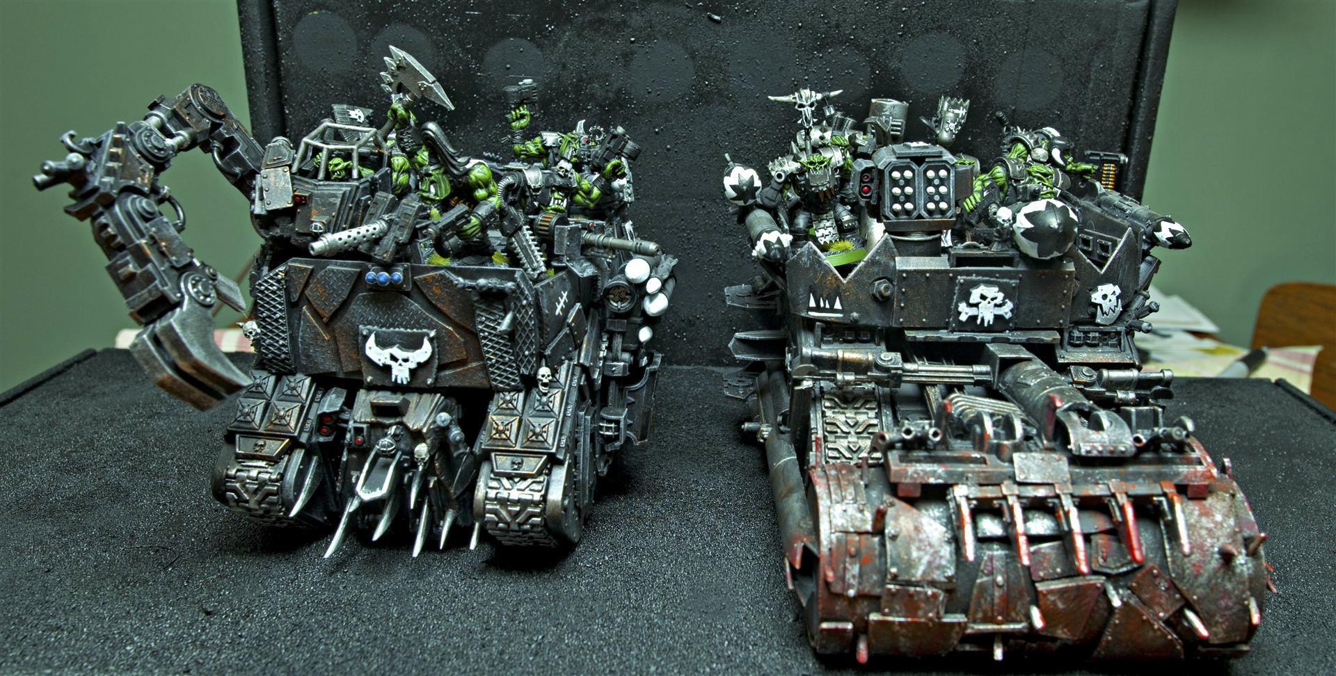 Battlewagon, Deffrolla, Goff, Goffs, Grabbin Klaw, Nob, Orks, Painboy
