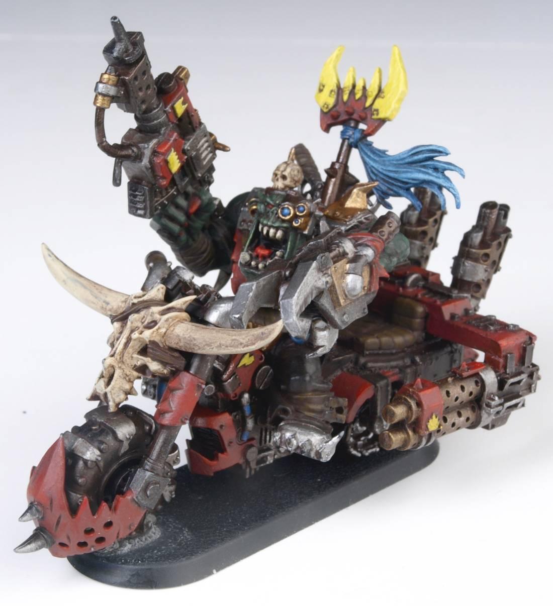 Bike, Biker Boss, Evil Sunz, Kult Of Speed, Orks, Warboss