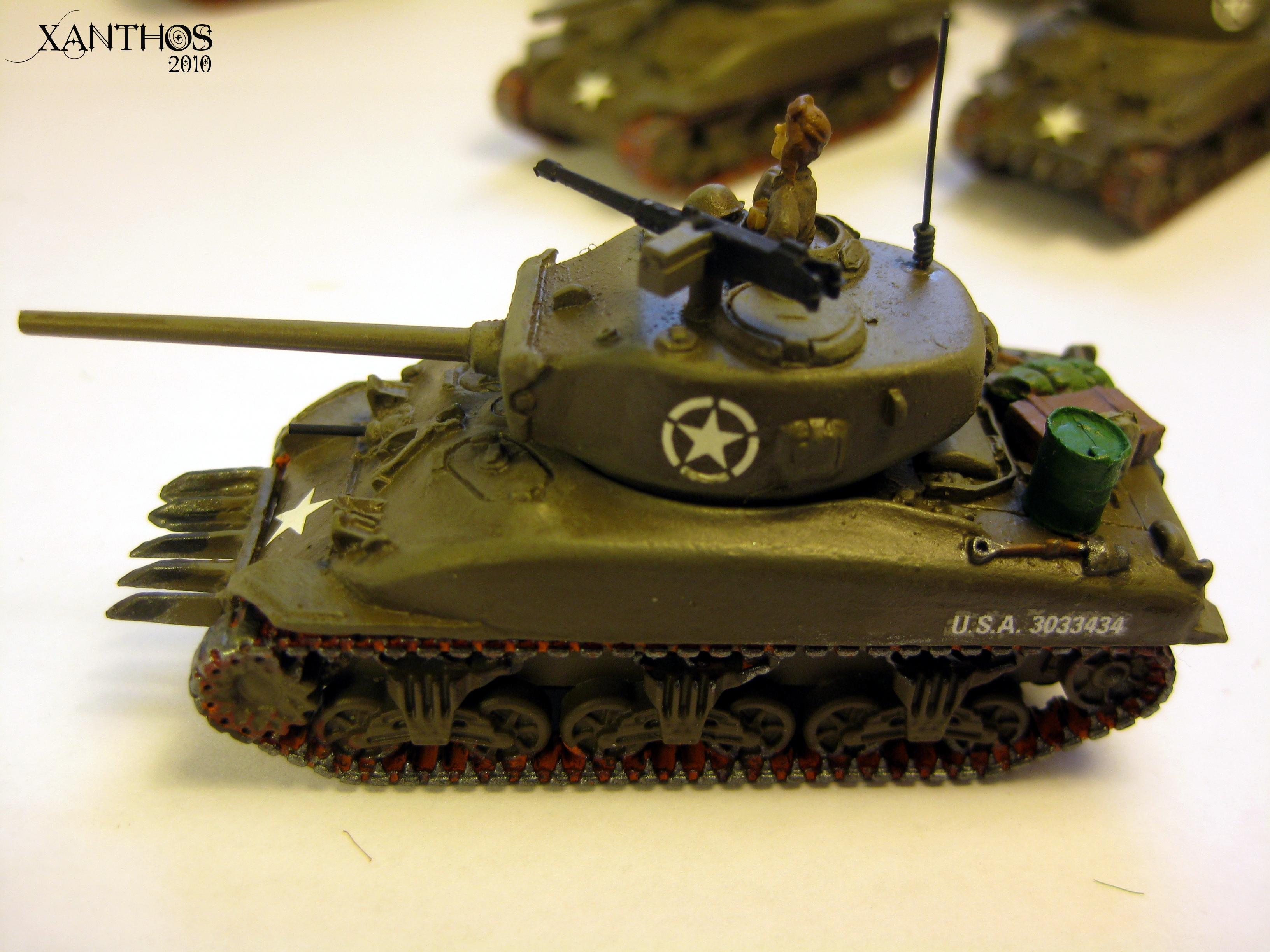 2nd Armored, America, Flames Of War, Green, Tank