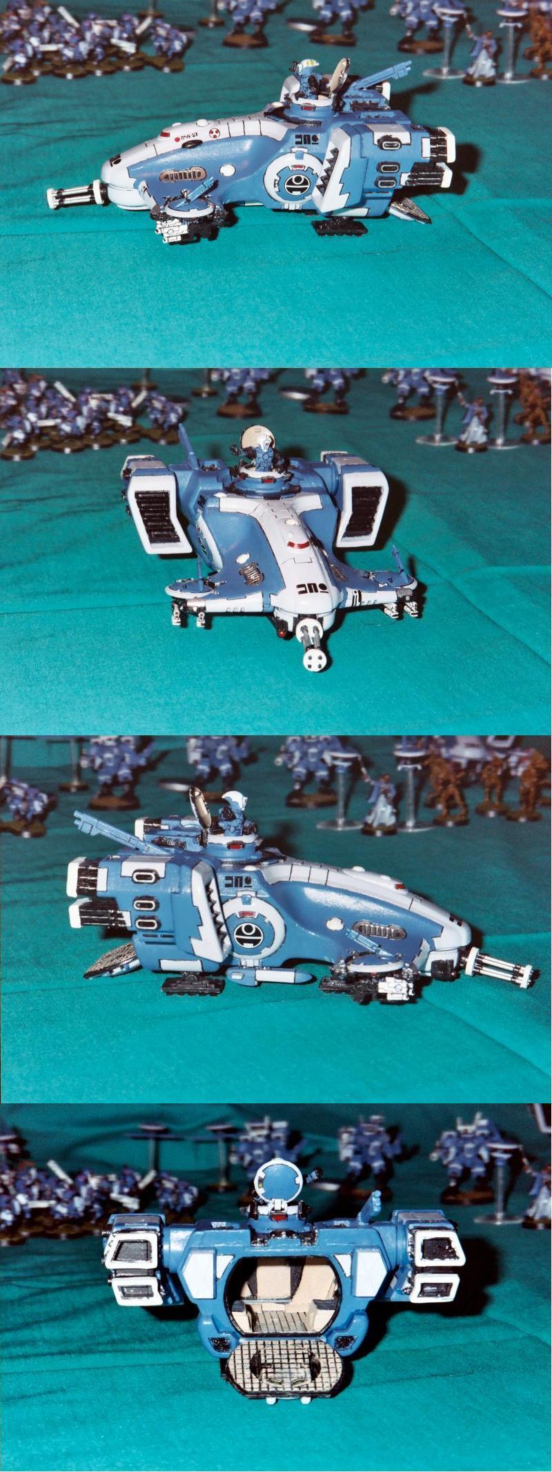 Blue, Burst Cannon, Devilfish, Skimmer, Tau, Transport, Warhammer 40,000