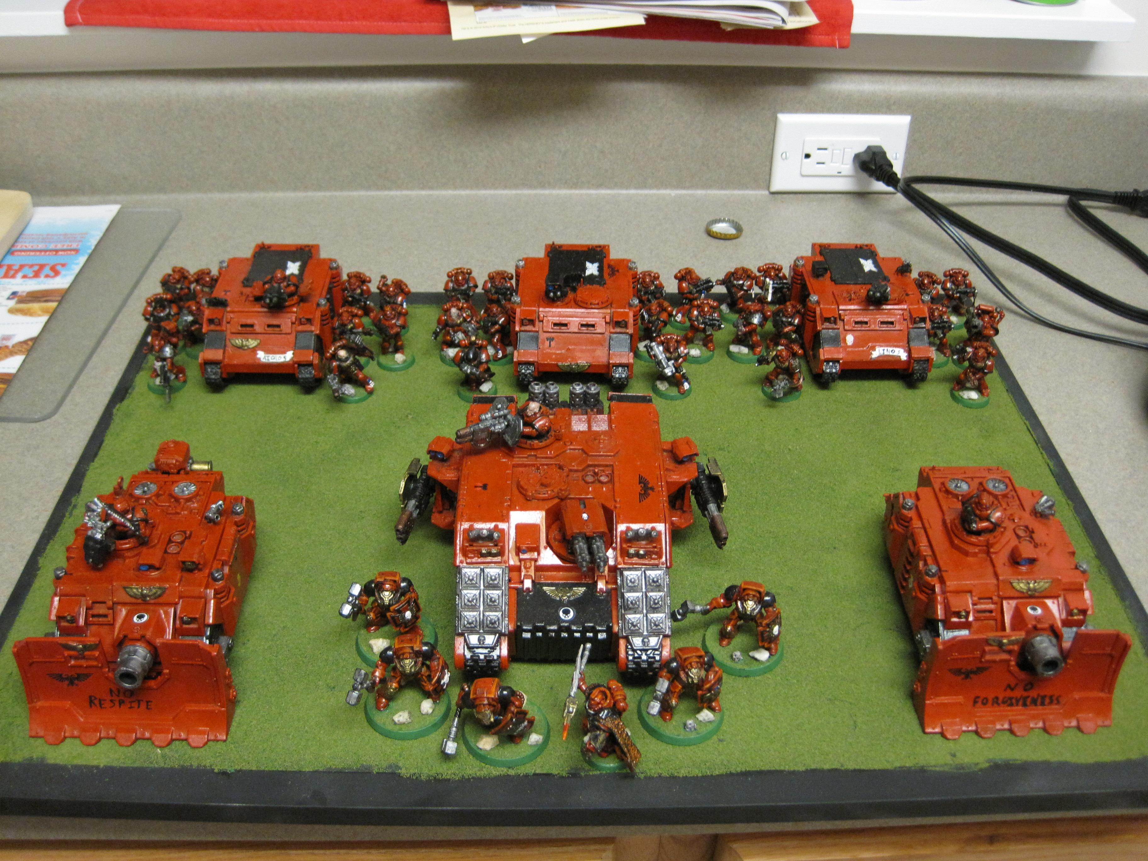 Home Brew, My Old Army, Self Made Chapter, Space Marines, Tank, Warhammer 40,000