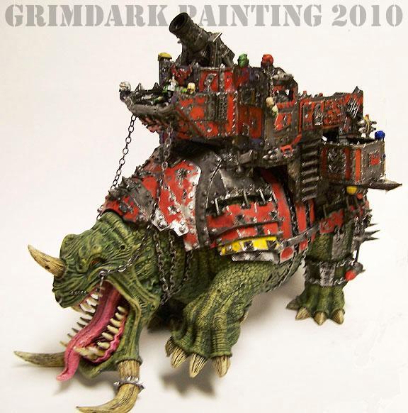 Gargantuan Creature, Green, Greenskins, Killy, Orks, Orky, Painted, Squiggoth, Waaagh!