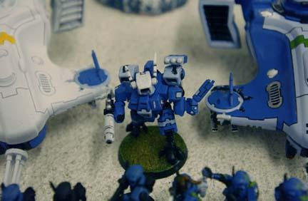 2003, Army, Battlesuit, Blue, Crisis Battlesuit, Danger Planet, Missile, Not My Photo, Plasma, Tau, Warhammer 40,000, White, Work In Progress, XV8
