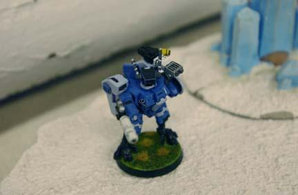 2003, Army, Battlesuit, Blue, Crisis Battlesuit, Danger Planet, Fusion Blaster, Not My Photo, Plasma, Tau, Warhammer 40,000, White, Work In Progress, XV8
