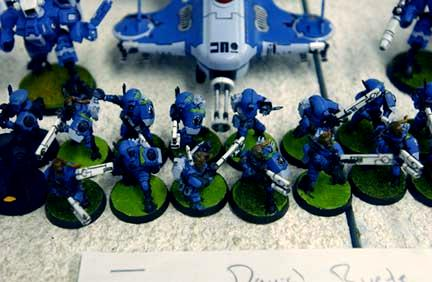 2003, Army, Blue, Carapace, Danger Planet, Fire Warriors, Infantry, Not My Photo, Pulse Carbine, Pulse Rifle, Tau, Unit, Warhammer 40,000, White, Work In Progress