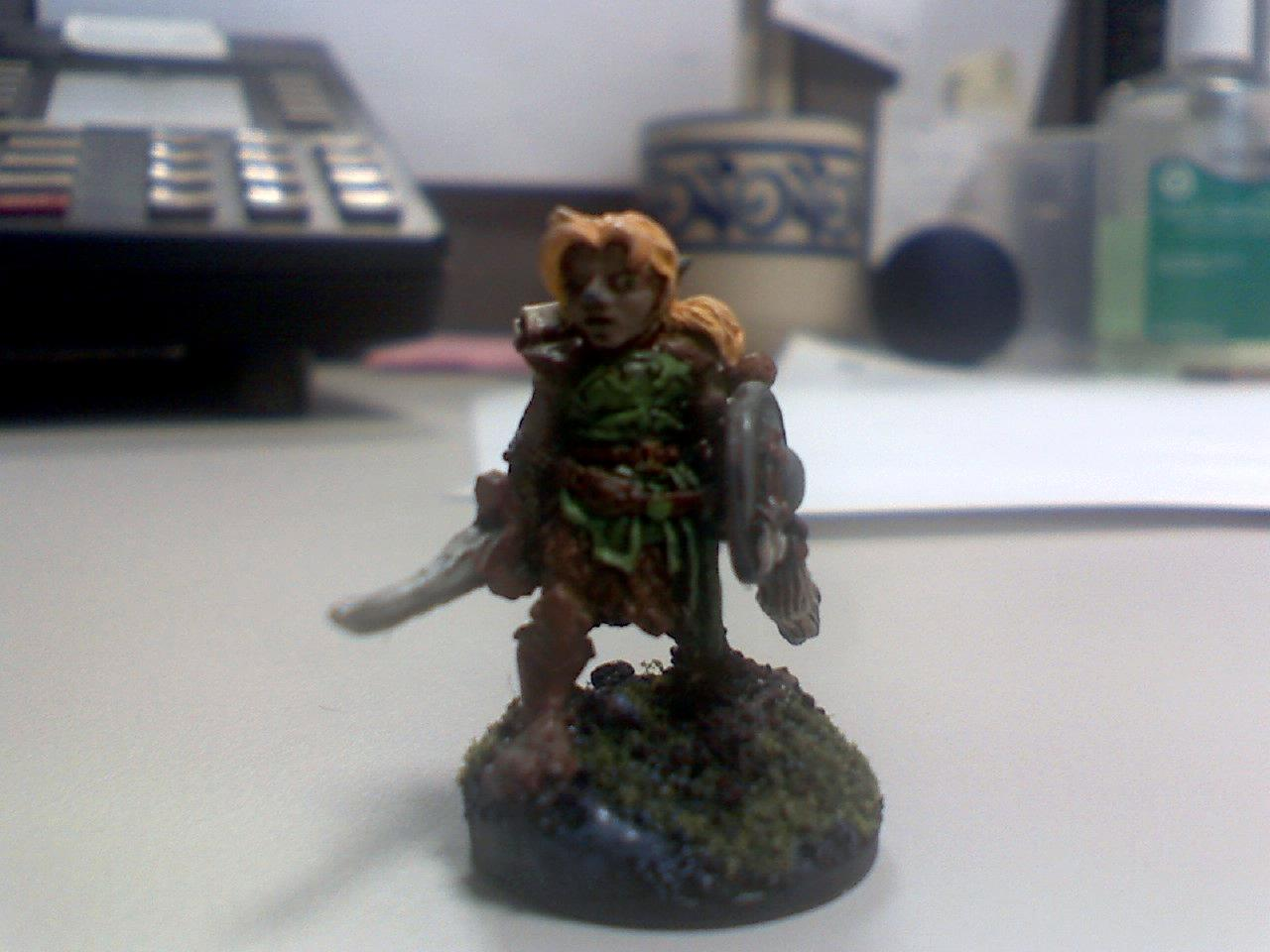 Brown, Character, Druid, Gnome, Green, Leather, Reaper, Shield, Sickle, Warhammer 40,000, Warhammer Fantasy