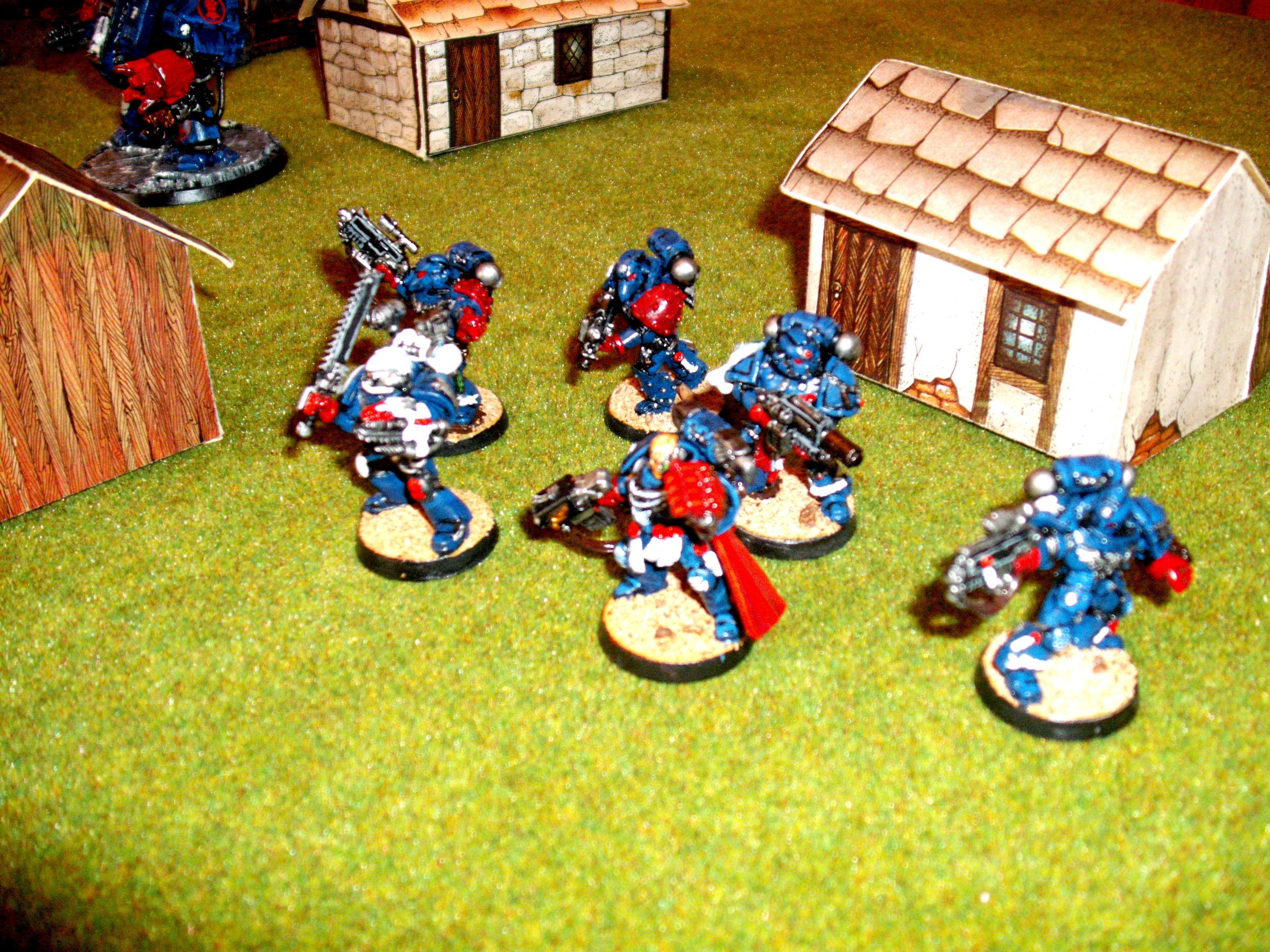 Captain, Command Squad, Crimson Fists, Space Marines