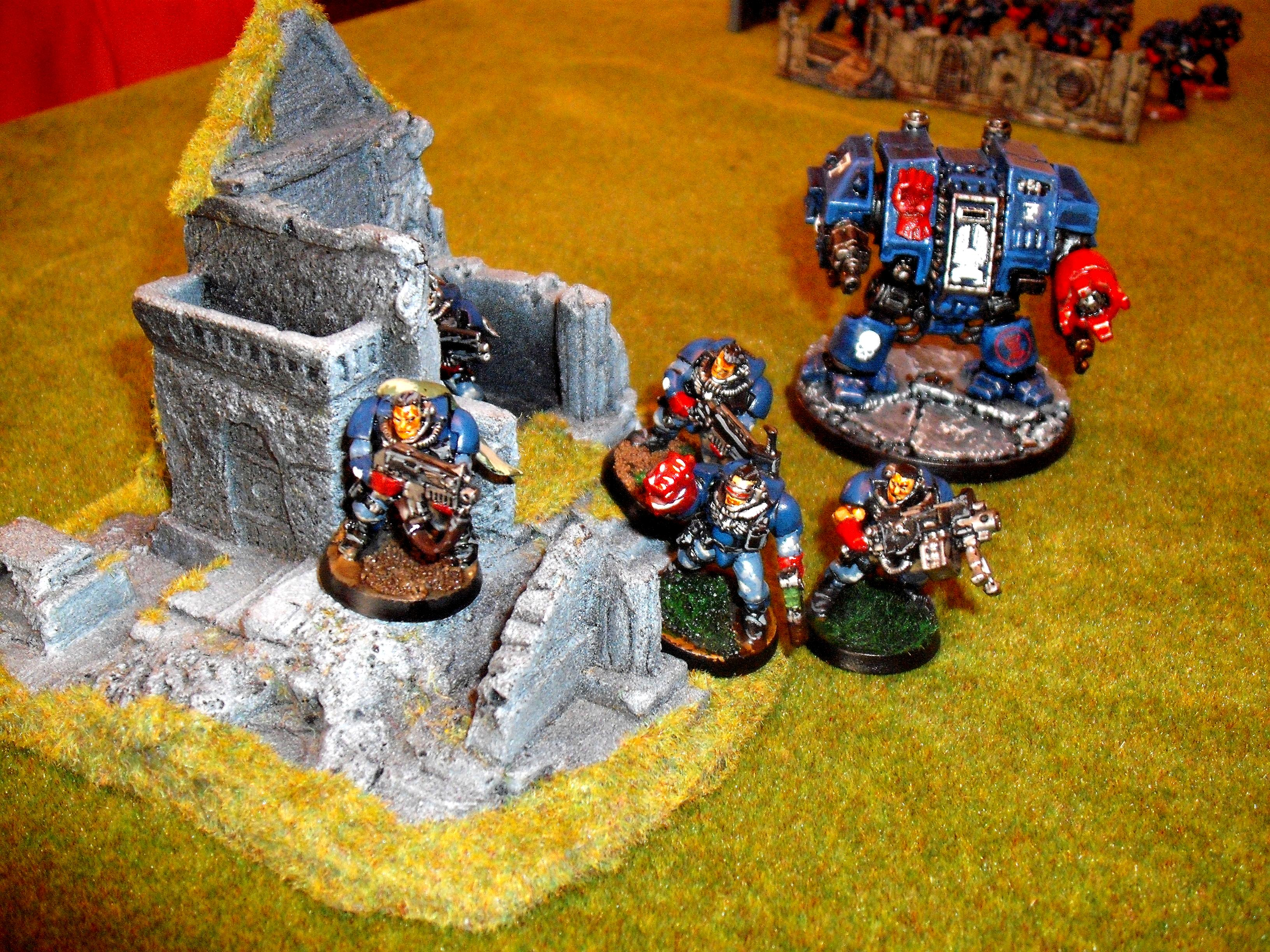 Crimson Fists, Dreadnought, Scouts, Space Marines