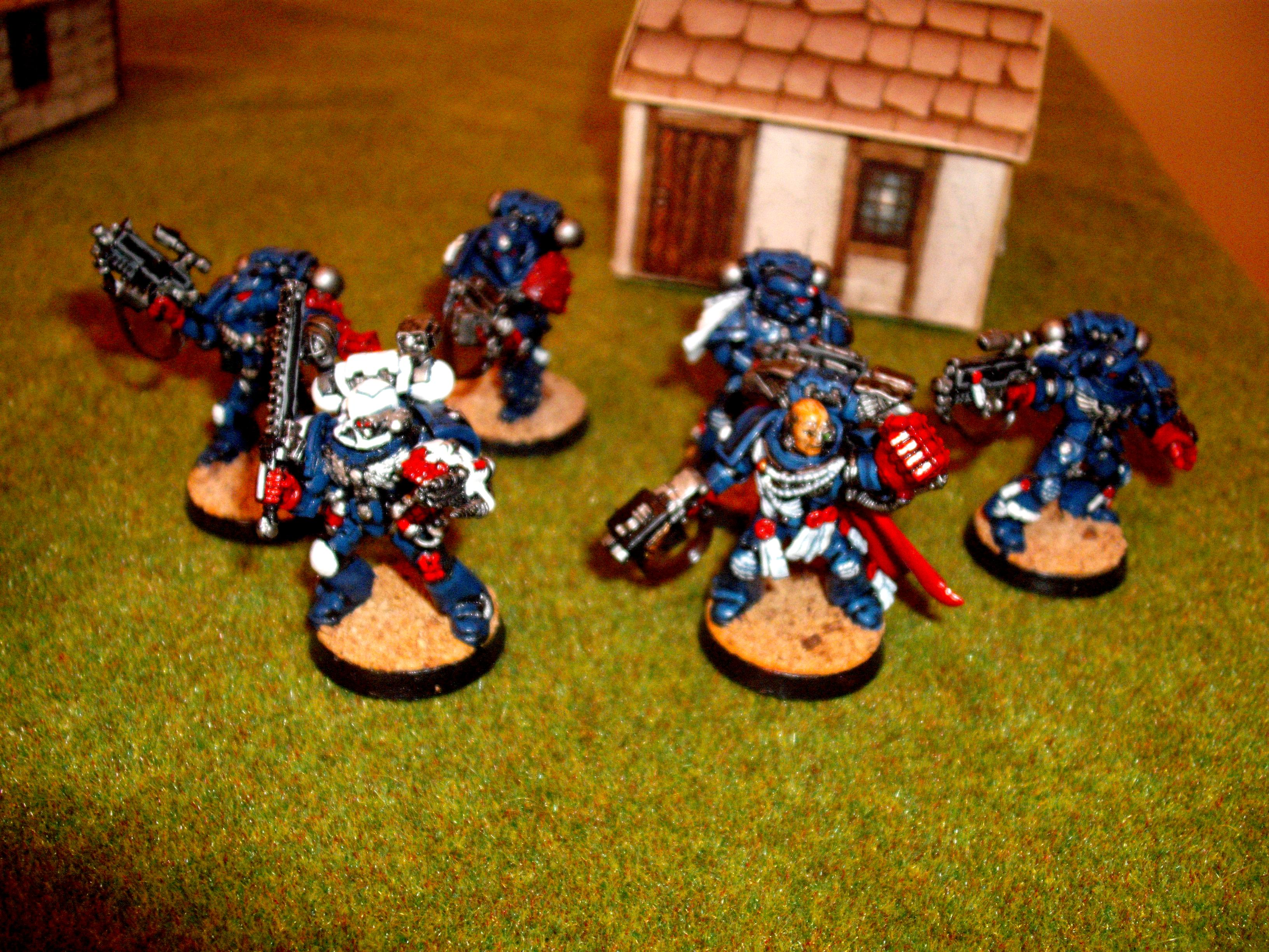 Command Squad, Crimson Fists, Crimson Fists Captain, Space Marines