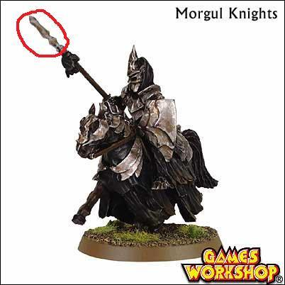 I cut off the edge of a spare morgul knight lance/spear and swapped with the sword
