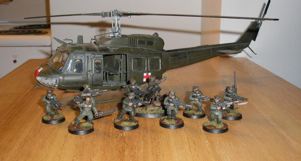 Cadians, Helicopter, Huey, Imperial Guard, Valkyrie, Vietnam