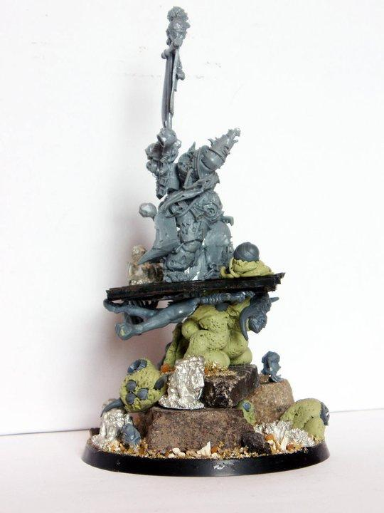 Chaos, Greenstuff, Kit Bash, Lord, Nurgle, Palanquin