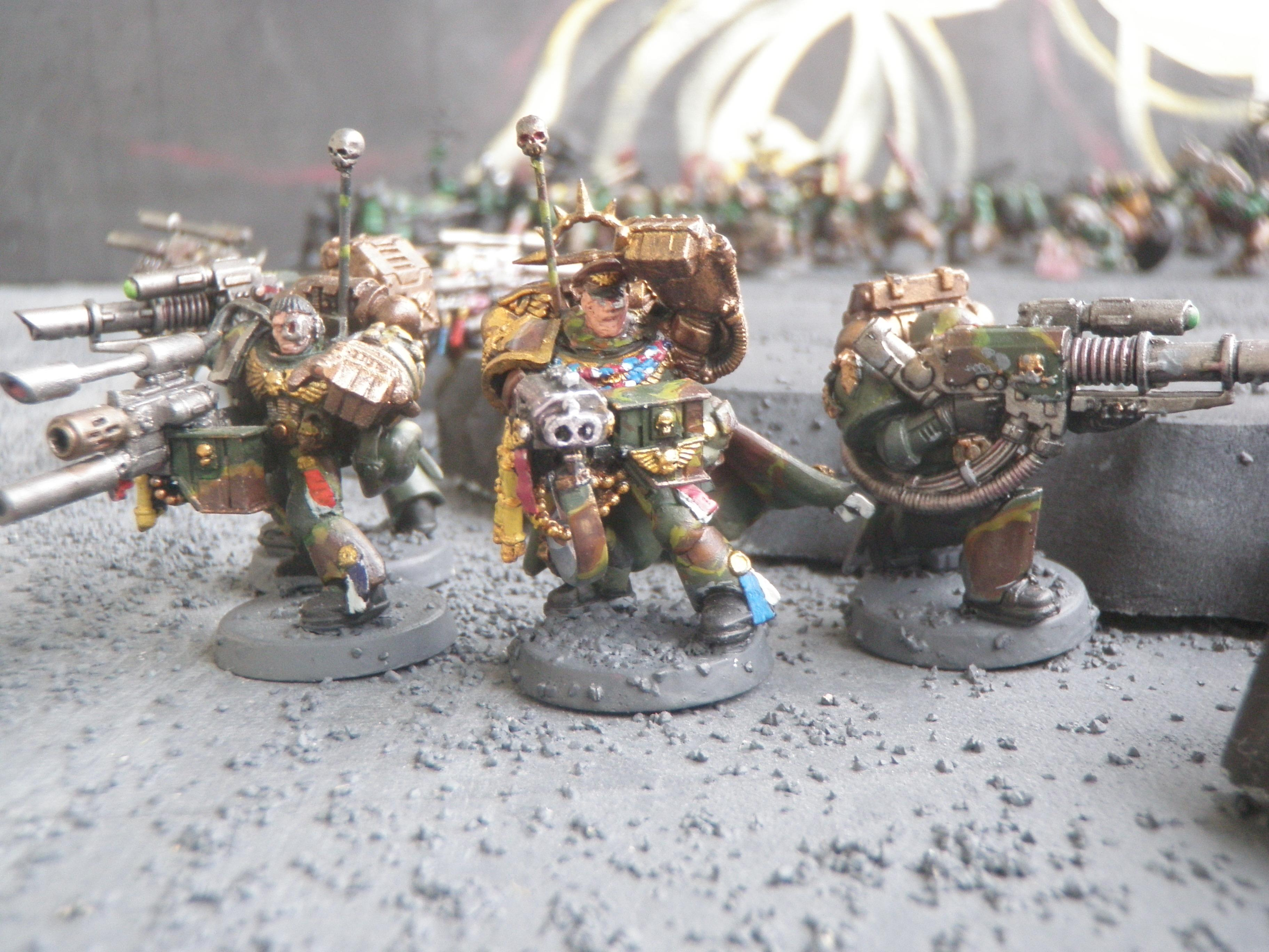 Camouflage, Heavy Bolter, Lascannon, Power Fist