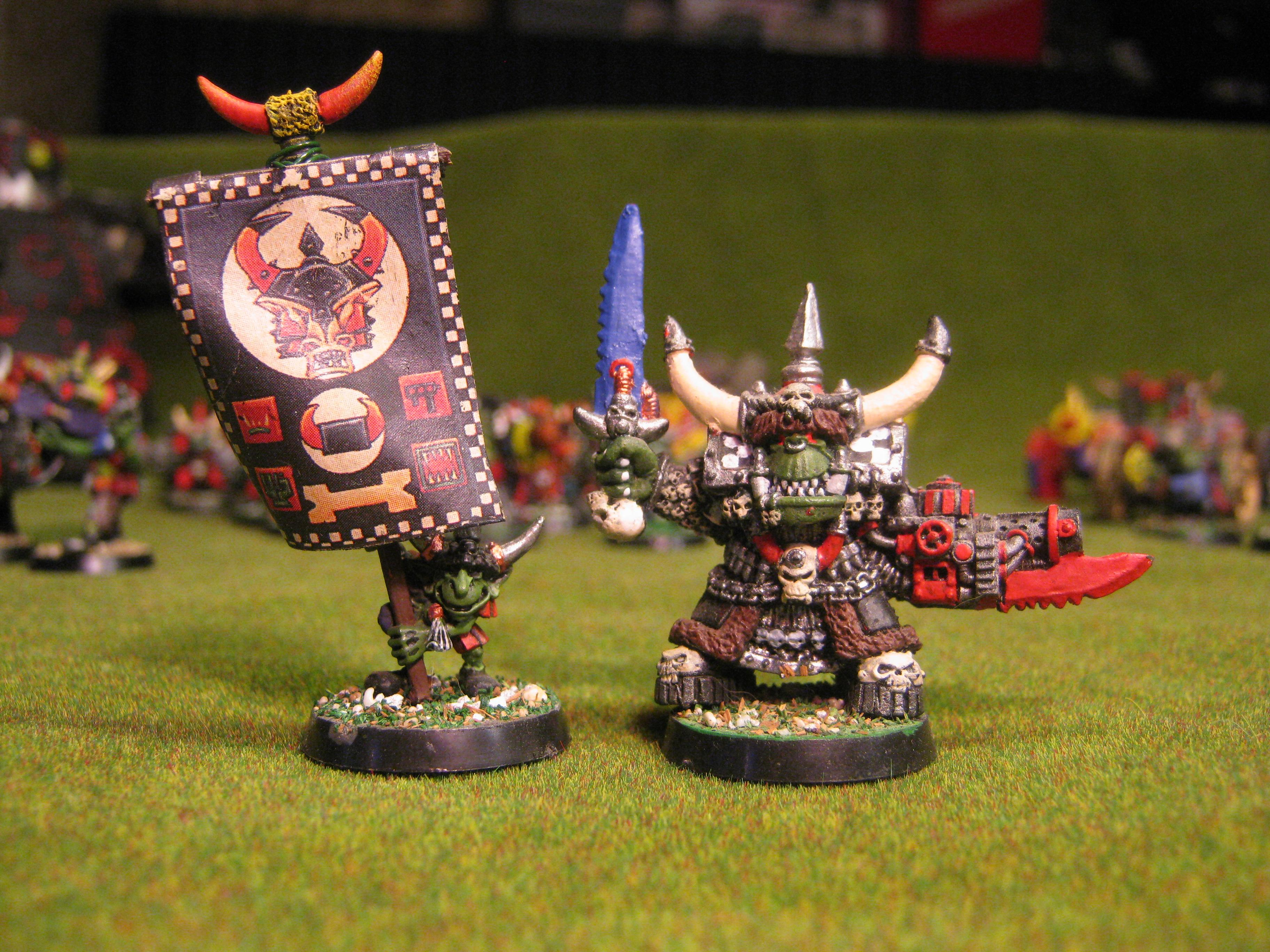 Goffs, Orks, Some boss and his grot