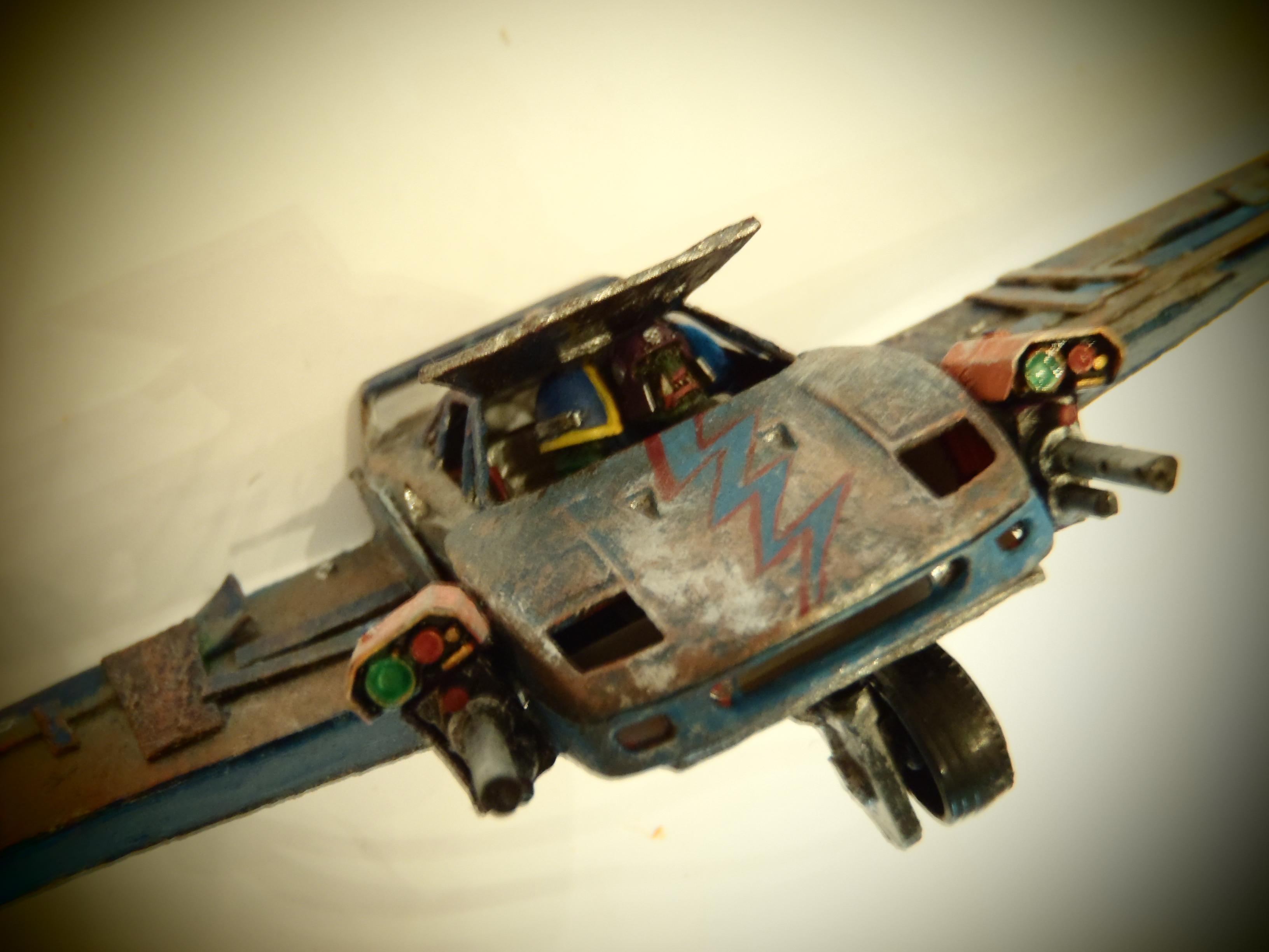 Bomber, Cars, Conversion, Death, Orks, Plane, Skull, Toy, Vehicle
