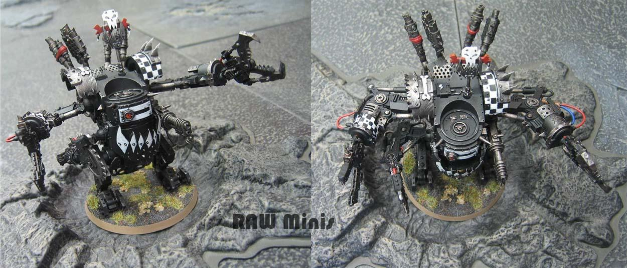 Deff Dread, Dreadnought, Orks, Painting, Warhammer 40,000