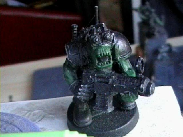 Bashed Upzag With cybereyed ork
