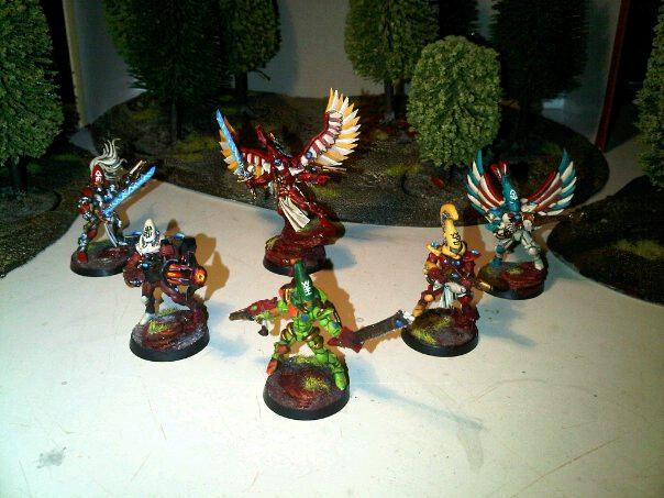Aspect Warrior, Autarch, Eldar, Fire Dragon, Howling Banshees, Striking Scorpion, Swooping Hawks, Warp Spider