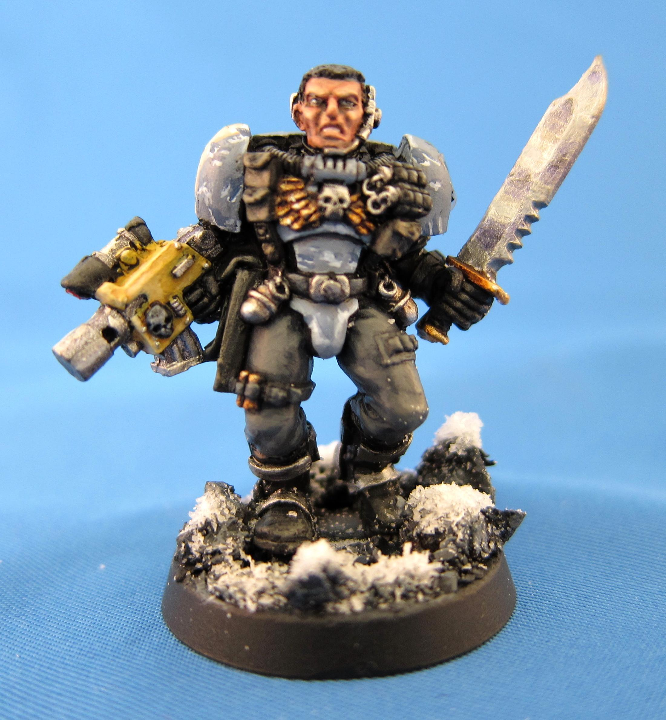 Bolter, Scouts, Snow, Space Marines, Space Wolves, Warhammer 40,000