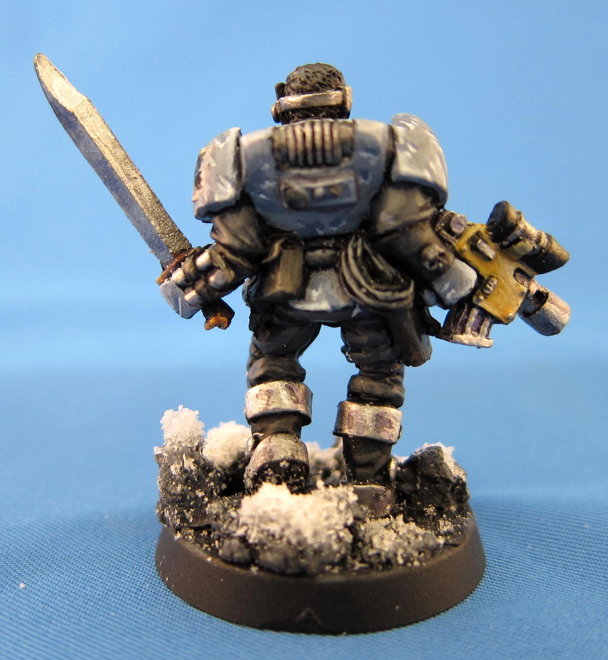 Bolter, Scouts, Snow, Space Marines, Space Wolves