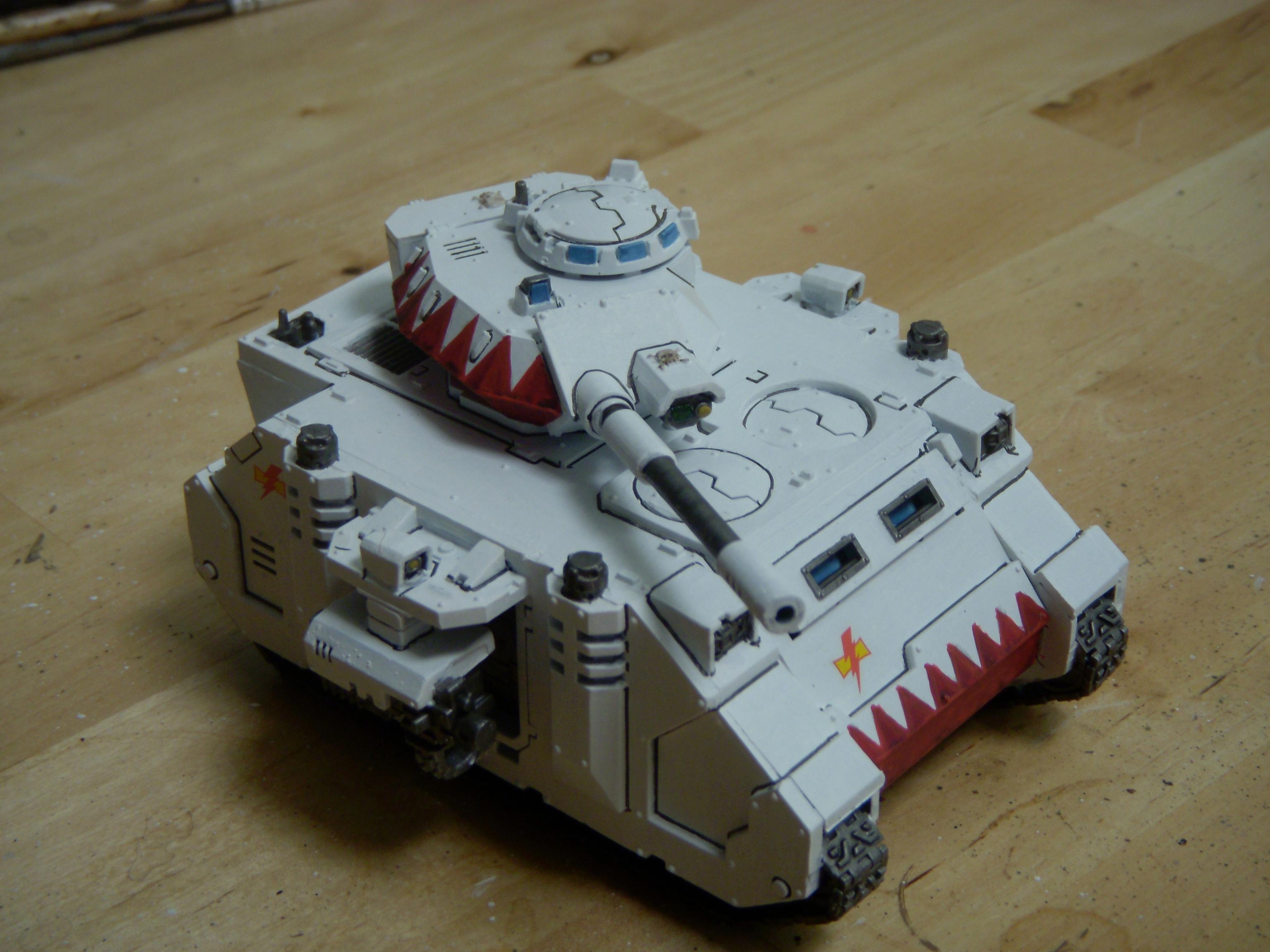 40k Predator, 40kfsu, Clean, Highlight, Space Marine Whitescars, White Scars