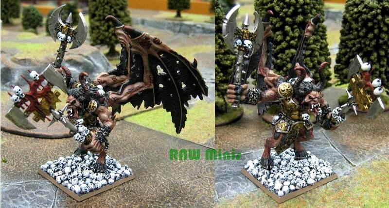 Chaos, Chaos Daemons, Conversion, Khorne, Painting, Skarbrand, Warhammer 40,000, Warhammer Fantasy